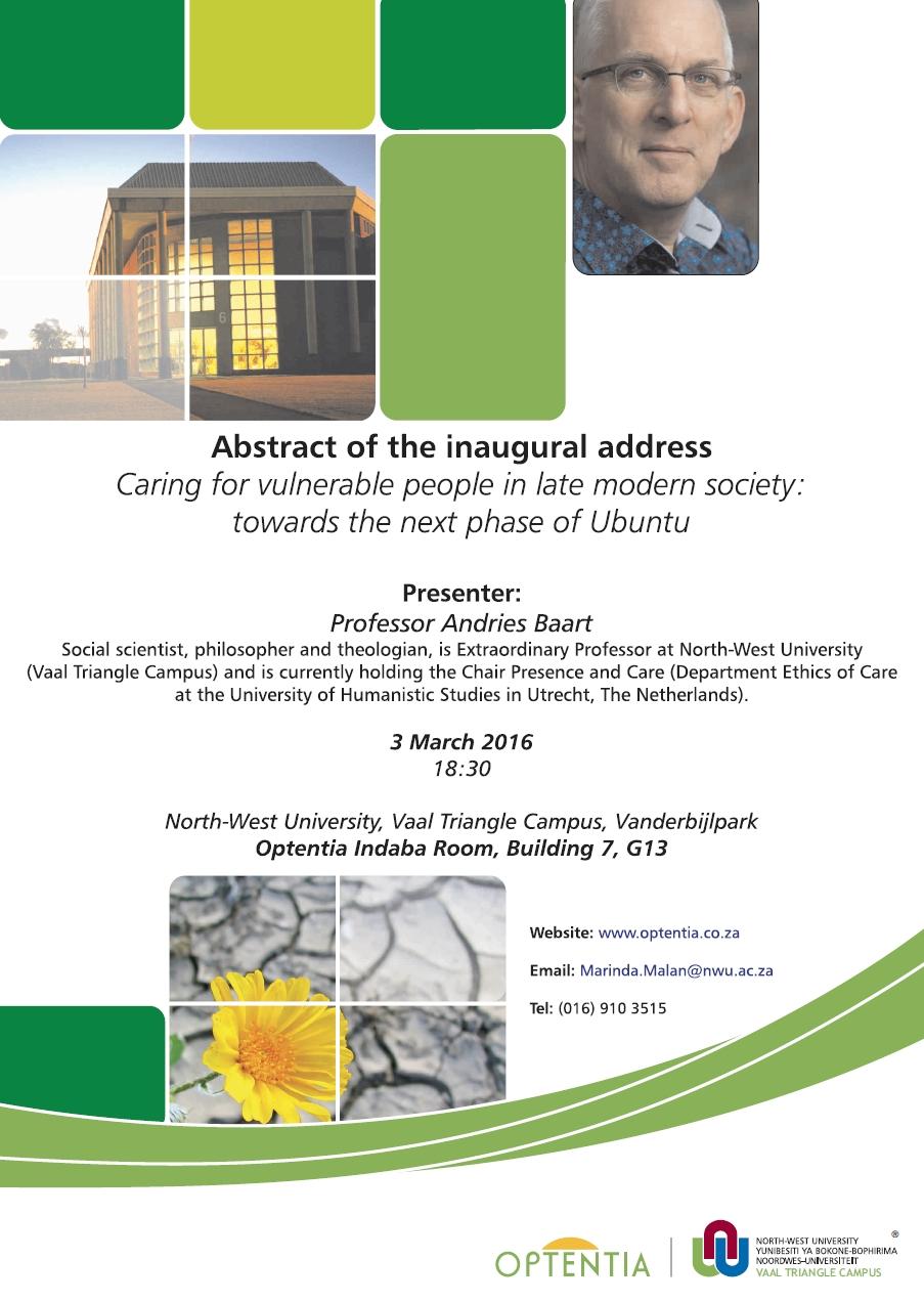 Inaugural Address Prof. Baart 01